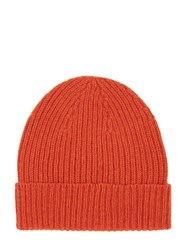 Mr.Start Ribbed Cashmere Beanie Fire Orange
