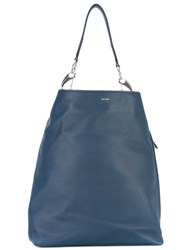 Paul Smith Slouchy Tote Women Leather One Size Blue