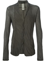 The Viridi Anne The Viridi Anne Collarless Jersey Shirt Grey
