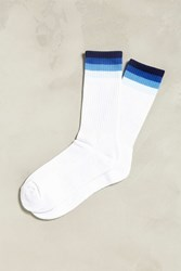 Urban Outfitters Fade Stripe Sport Sock White