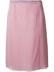 Agnona Classic Pencil Skirt Pink Purple