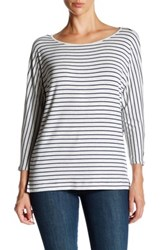 Soft Joie Maylyn Stripe 3 4 Length Sleeve Tee Blue