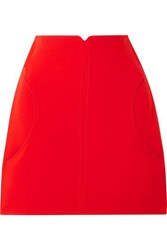 Courreges Wool Twill Mini Skirt Red