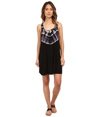 Lucky Brand Half Moon Dress Cover Up Black Women's Swimwear