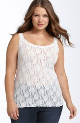 Plus Size Women's Hanky Panky 'Signature' Lace Camisole White