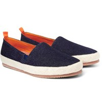 Mulo Denim Espadrilles Navy