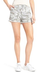 Treasure And Bond Women's Camo High Waist Boyfriend Shorts