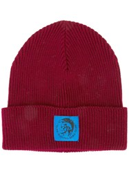 Diesel 'Coder' Beanie Red