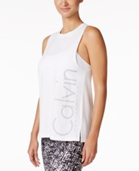 Calvin Klein Performance Logo Boyfriend Tank Top Sugar
