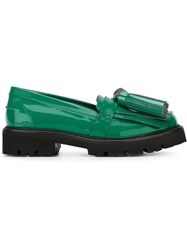 Msgm 'Kiltie' Tassel Loafers Green