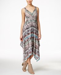 American Rag Printed Empire Waist Handkerchief Hem Maxi Dress Only At Macy's
