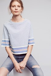 Maeve Leona Striped Top Blue