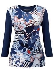 Gerry Weber Contrast Back Printed Jersey Top Multi