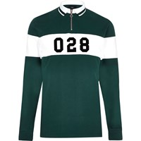 River Island Green Tipped Slim Fit Rugby Polo Shirt