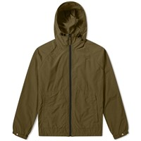 Aspesi Nylon Garment Dyed Hooded Jacket Green
