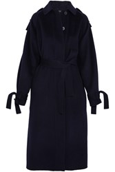 Joseph Clallam Wool And Cashmere Blend Coat Navy