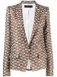 Haider Ackermann Checked Jacquard Blazer Brown