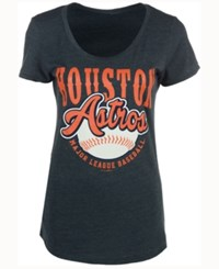 5Th And Ocean Women's Houston Astros Fast Pitch Scoop T Shirt Navy