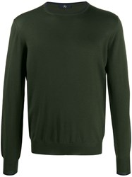 Fay Elbow Patch Detail Jumper Green