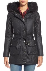 Women's Barbour 'Katana' Waxed Cotton Parka With Faux Fur Trim