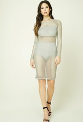 Forever 21 Open Mesh Bodycon Dress