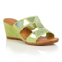 Lotus Briony Wedge Sandals Lime