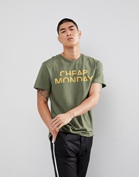Cheap Monday Splice Logo Standard T Shirt Grey Mel