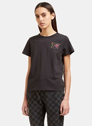 Marc Jacobs Sequin Embroidered Mtv T Shirt Black