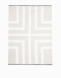 Louise Gray Throw Quilt No. 7 Ivory Flax