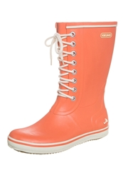 Viking Retro Light Wellies Coral Orange
