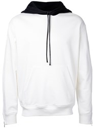 3.1 Phillip Lim Block Panel Hoodie White