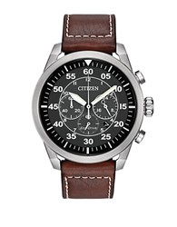 Citizen Eco Drive Avion Stainless Steel Chronograph Brown