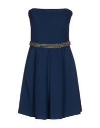 Scee By Twin Set Short Dresses Blue