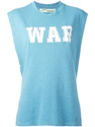 Off White 'War' Tank Top Blue