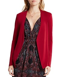 Bcbgeneration Open Front Peplum Blazer Apple