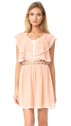 Endless Rose Open Waist Flared Dress Tea Rose White Combo