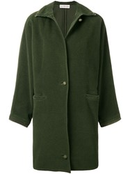 Versace Vintage 1980'S Straight Midi Coat Green