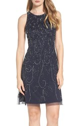 Adrianna Papell Women's Beaded Fit And Flare Dress
