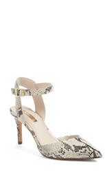 Louise Et Cie Women's Kota Ankle Strap Pump Natural Snake Print Leather
