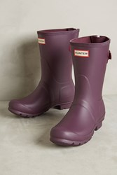 Anthropologie Hunter Original Short Rain Boots Purple