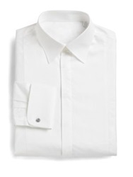 Armani Collezioni Slim Fit French Cuff Tuxedo Shirt White
