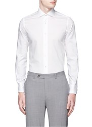 Lardini Stripe Weave Cotton Shirt White