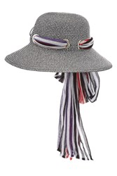 Missoni Mare Straw Hat With Printed Scarf
