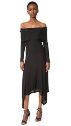 Derek Lam Off Shoulder Dress Black