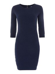 Gant Fine Cable Dress Navy