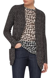 Akris Women's Stretch Cotton Tweed Knit Cardigan