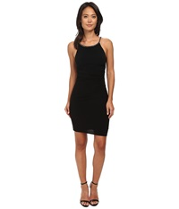 Laundry By Shelli Segal Side Shirred Jersey Cocktail Dress W Jeweled Straps Black Women's Dress