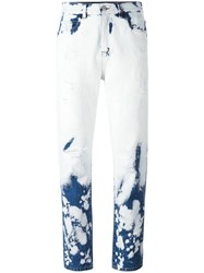 Gucci Hand Bleached Relaxed Fit Jeans White