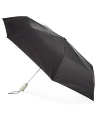 Totes Signature Auto Open Close Medium Umbrella Black