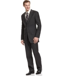 Alfani Suit Charcoal Trio With Extra Pant